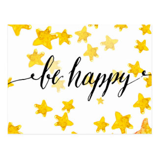Be Happy 3 Postcard