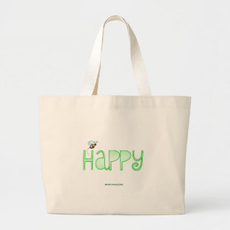 Be Happy - A Positive Word Tote Bags