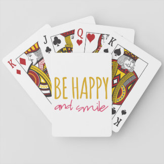 Be Happy And Smile Poker Deck