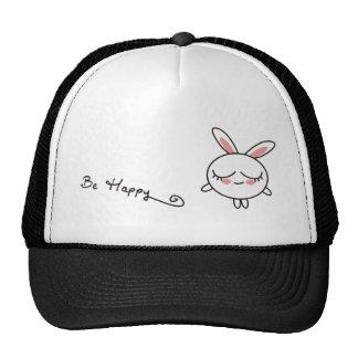 Be Happy Bunny Cap