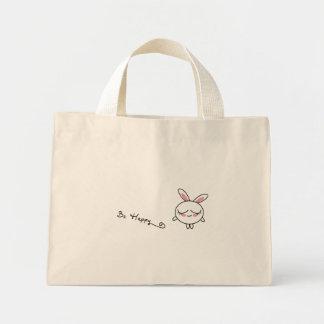 Be Happy Bunny Mini Tote Bag
