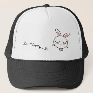 Be Happy Bunny Trucker Hat