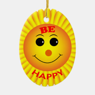 Be Happy Christmas Ornament