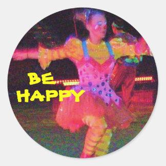 BE HAPPY CLOWN STICKER