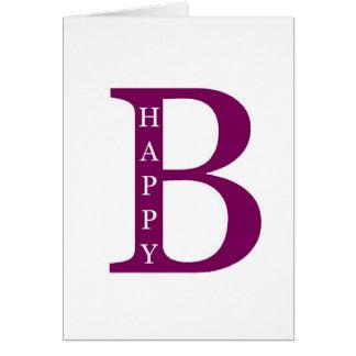 Be Happy deep purple Greeting Card