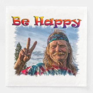 BE HAPPY DISPOSABLE NAPKIN
