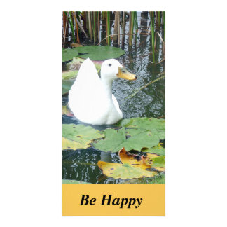 Be Happy Duck Card Customised Photo Card