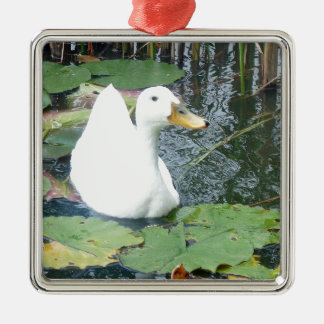 Be Happy Duck Christmas Ornament