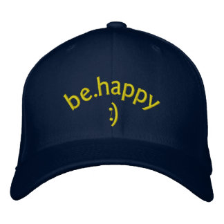 be happy embroidered hats