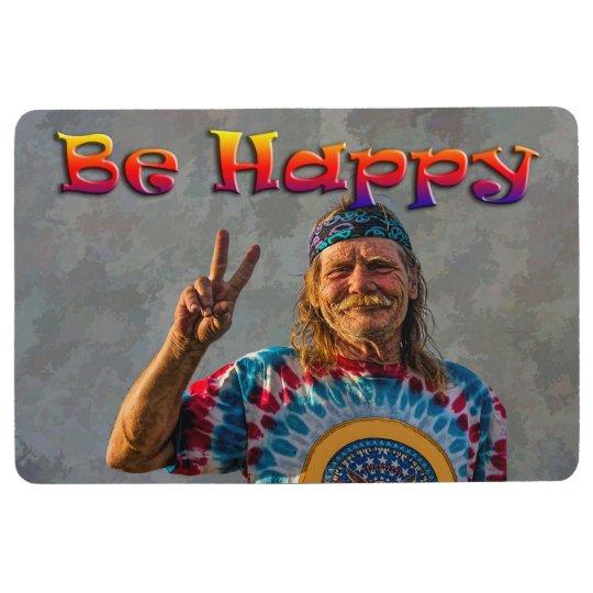 BE HAPPY FLOOR MAT