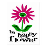 Be Happy Flower Post Card