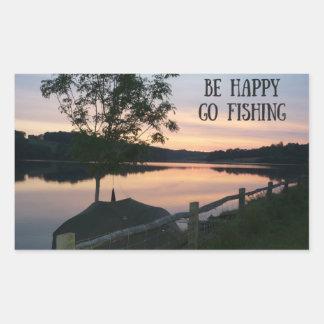 """Be happy Go fishing"" sticker"