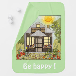Be happy ! green buggy blankets