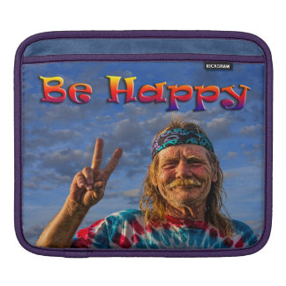 BE HAPPY iPad SLEEVE