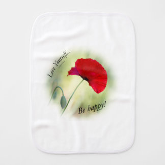 """Be happy! - Love Yourself..."" Burp Cloth"