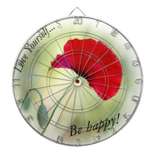 """Be happy! - Love Yourself..."" Dartboard"