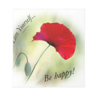 """Be happy! - Love Yourself..."" Notepad"