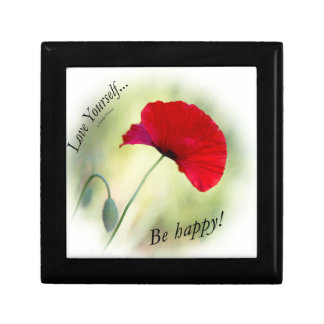 """""""Be happy! - Love Yourself..."""" Small Square Gift Box"""
