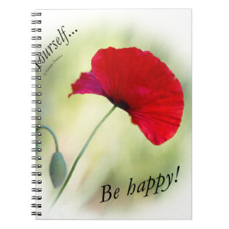 """""""Be happy! - Love Yourself..."""" Spiral Notebook"""