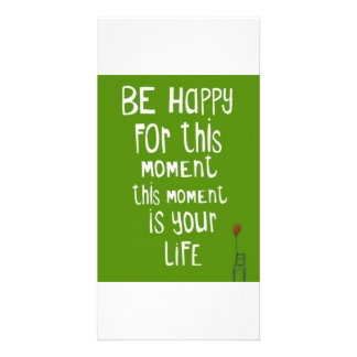 Be happy personalised photo card