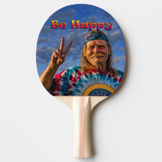 BE HAPPY PING PONG PADDLE