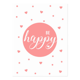 Be Happy Postcard
