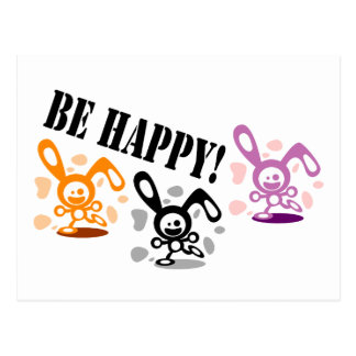 Be happy! postcard