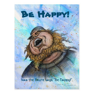 Be Happy postcard by Mike Winterbauer