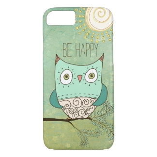 Be Happy Retro Bohemian Owl iPhone 8/7 Case