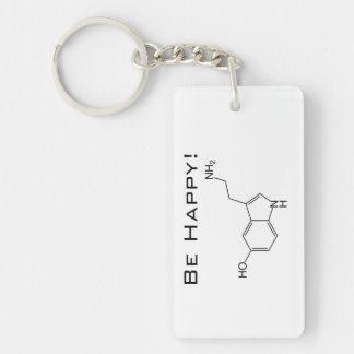 Be Happy! Serotonin Key Ring