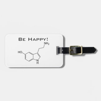 Be Happy! Serotonin Luggage Tags