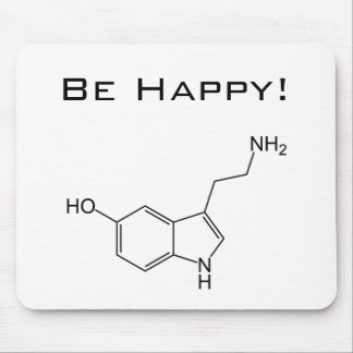 Be Happy! Serotonin Mousepad