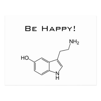 Be Happy! Serotonin Postcard