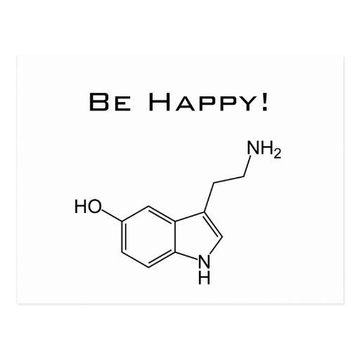 Be Happy! Serotonin Postcard