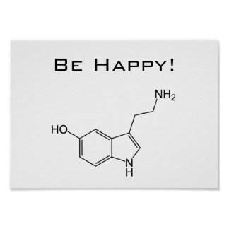 Be Happy! Serotonin Poster
