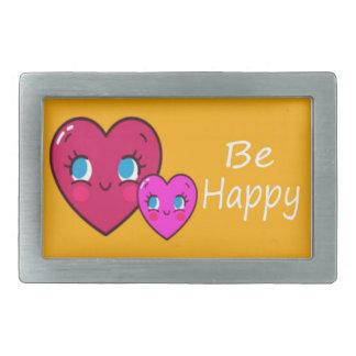 Be Happy Smile Belt Buckles