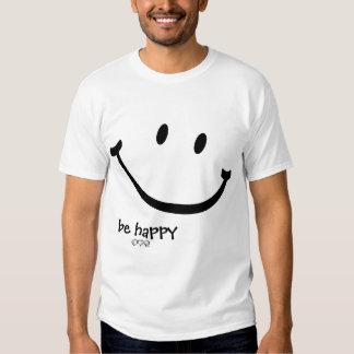 be happy smiley tshirt
