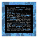 Be happy wall print. poster