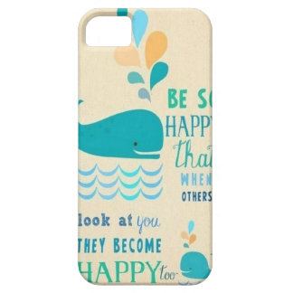 Be Happy whale iPhone 5 case! Barely There iPhone 5 Case