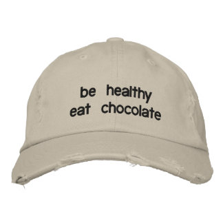 be healthy eat chocolate embroidered hats