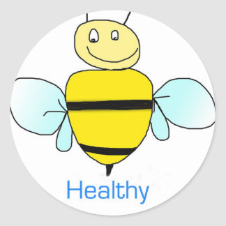Be healthy round sticker