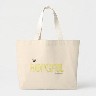 Be Hopeful - A Positive Word Jumbo Tote Bag