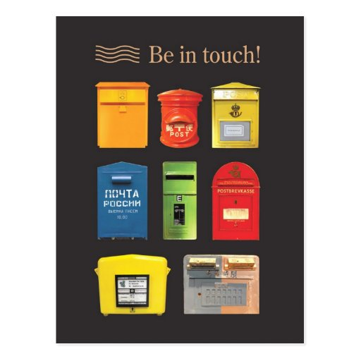 Be in Touch! Postcard