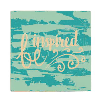 Be Inspired Wood Coaster