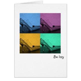 Be Izzy In Heels Note Card