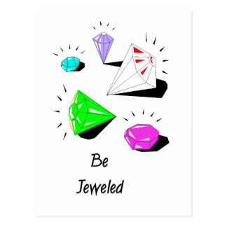 Be Jeweled Post Cards