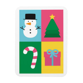 Be Jolly and Bright with Colourful Christmas Rectangle Magnets