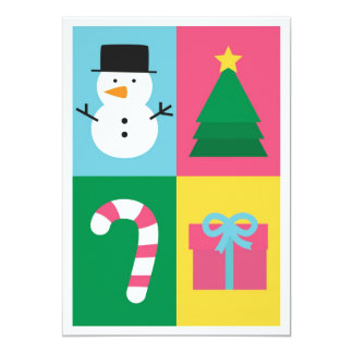 Be Jolly and Bright with Colourful Christmas Set 13 Cm X 18 Cm Invitation Card