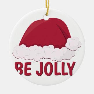 Be Jolly Round Ceramic Decoration