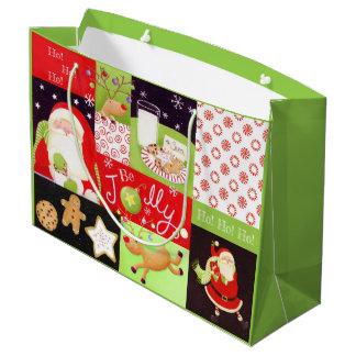 """Be Jolly!"" Santa Christmas Gift Bag Classic"